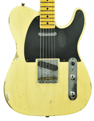 Fender Custom Shop 50's Telecaster Relic One Piece Ash Nocaster Blonde R104315
