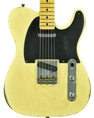 Fender Custom Shop 50's Telecaster Relic One Piece Ash Faded Nocaster Blonde R104359