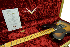 Fender Custom Shop 1950s Telecaster Relic 1 Piece Ash Body Two Tone Sunburst R104600 - The Music Gallery