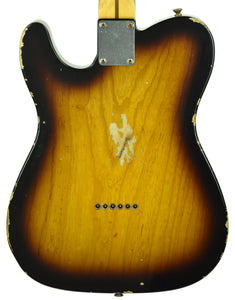 Fender Custom Shop 1950s Telecaster Relic 1 Piece Ash Body Two Tone Sunburst R104600
