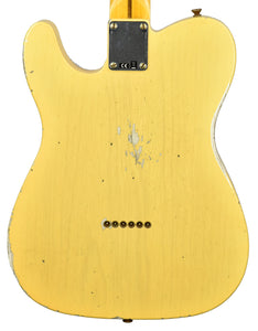 Fender Custom Shop 50s Telecaster Relic 1 Piece Ash in Nocaster Blonde R107451 - The Music Gallery