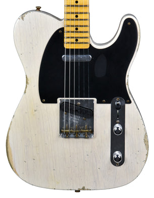 Fender Custom Shop 50s Telecaster Relic 1 Piece Ash in Aged White Blonde R108960