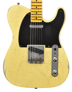 Fender Custom Shop 50s Telecaster Relic 1 Piece Ash Faded Nocaster Blonde R108836