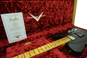 Fender Custom Shop 1952 HS Telecaster Relic in Black R106125 - The Music Gallery
