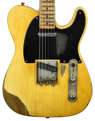 Fender Custom Shop Masterbuilt 54 Telecaster Relic by Dale Wilson in Smoked Nocaster Blonde R105846 - The Music Gallery