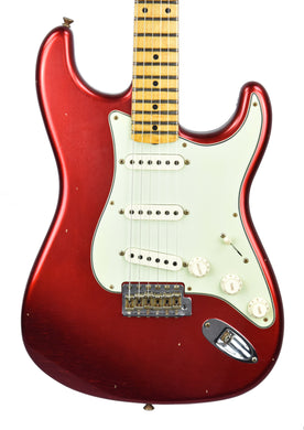 Fender Custom Shop 59 Special Stratocaster Journeyman Relic in Candy Apple Red CZ550514 - The Music Gallery