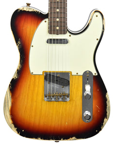 Fender Custom Shop 1960 Telecaster Custom Relic in Three Tone Sunburst R107991 - The Music Gallery