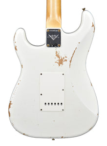 Fender Custom Shop 61 Stratocaster Relic Aged Olympic White CZ548158