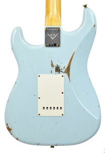Fender Custom Shop 61 Stratocaster Relic in Sonic Blue CZ547569