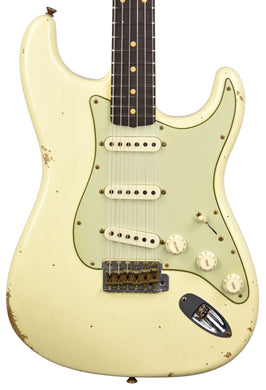 Fender Custom Shop 61 Stratocaster Relic in Vintage White CZ552664 - The Music Gallery