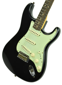 Fender Custom Shop 63 Stratocaster Journeyman Relic in Black R105298 - The Music Gallery