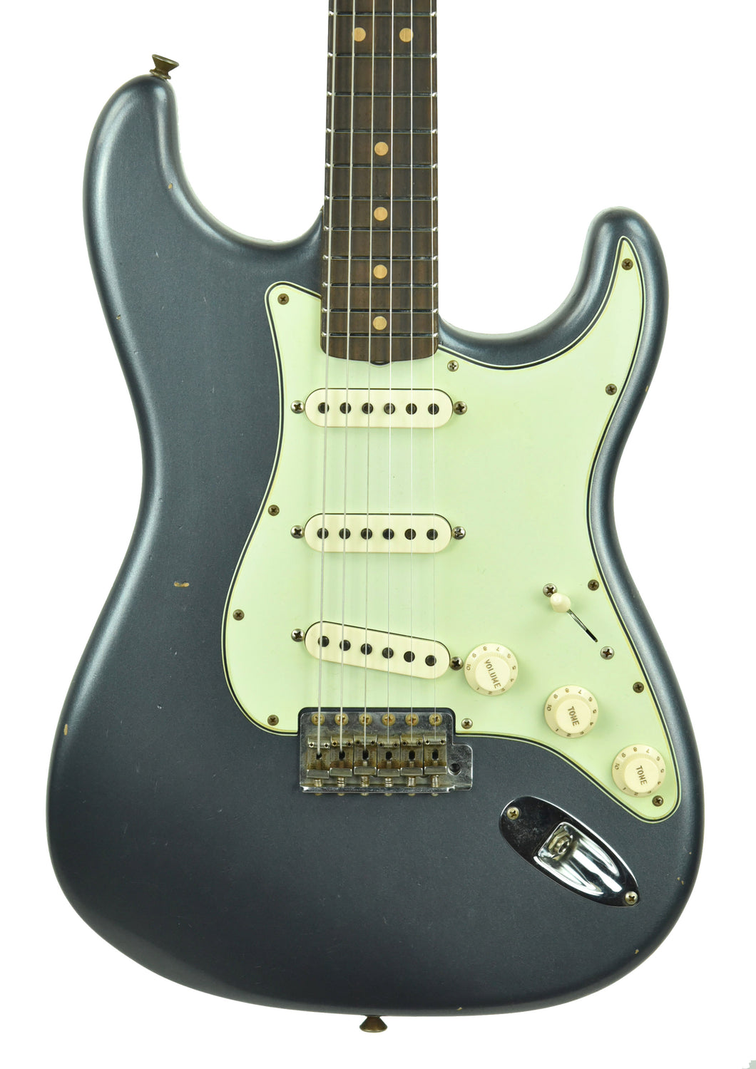 Fender Custom Shop 63 Stratocaster Journeyman Relic in Charcoal Frost Metallic R105205