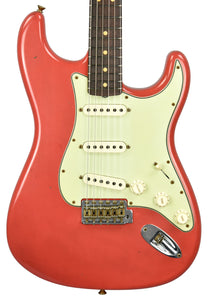 Fender Custom Shop 1963 Stratocaster Journeyman in Fiesta Red R108144 - The Music Gallery