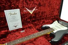 Fender Custom Shop 65 Stratocaster Journeyman Relic in Charcoal Frost Metallic CZ544964 - The Music Gallery