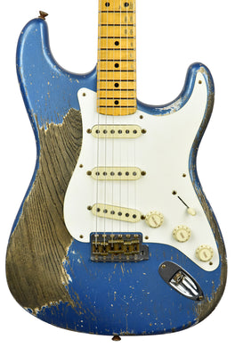 Fender Custom Shop Masterbuilt 56 Stratocaster Heavy Relic by Greg Fessler in Lake Placid Blue CZ550429 - The Music Gallery