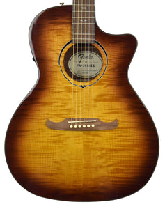 Fender FA-345CE Auditorium Acoustic-Electric in Tea Burst IWA2023400 - The Music Gallery
