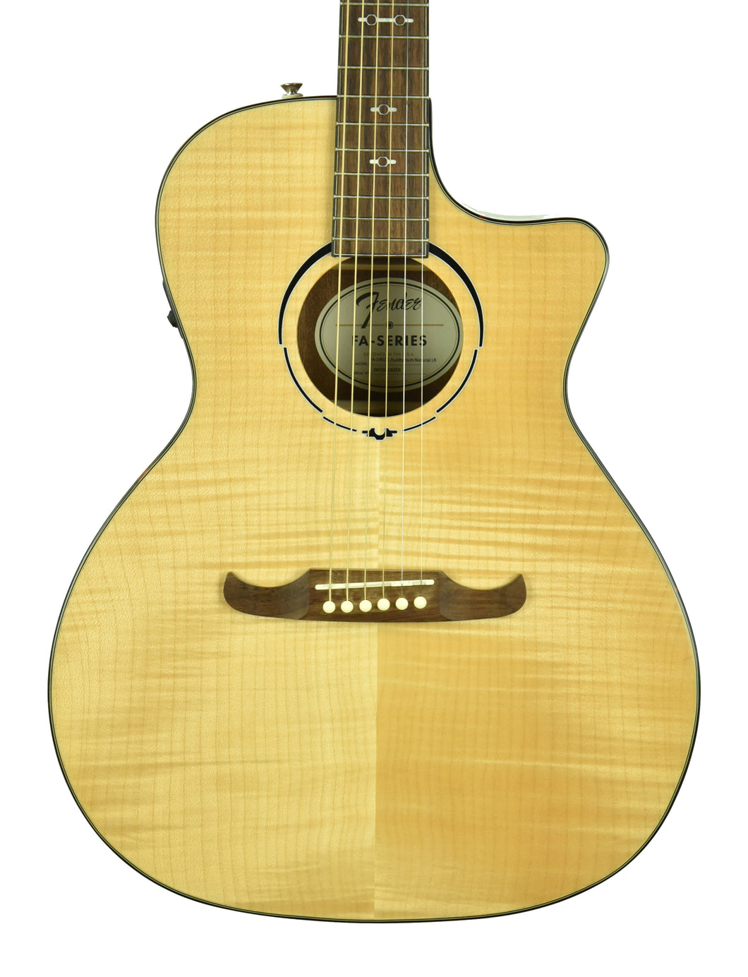 Fender FA-345CE Auditorium Acoustic Electric in Natural  IWA2018359 - The Music Gallery