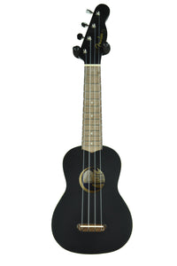 Fender® Venice Soprano Ukulele in Black CYN1935465 - The Music Gallery