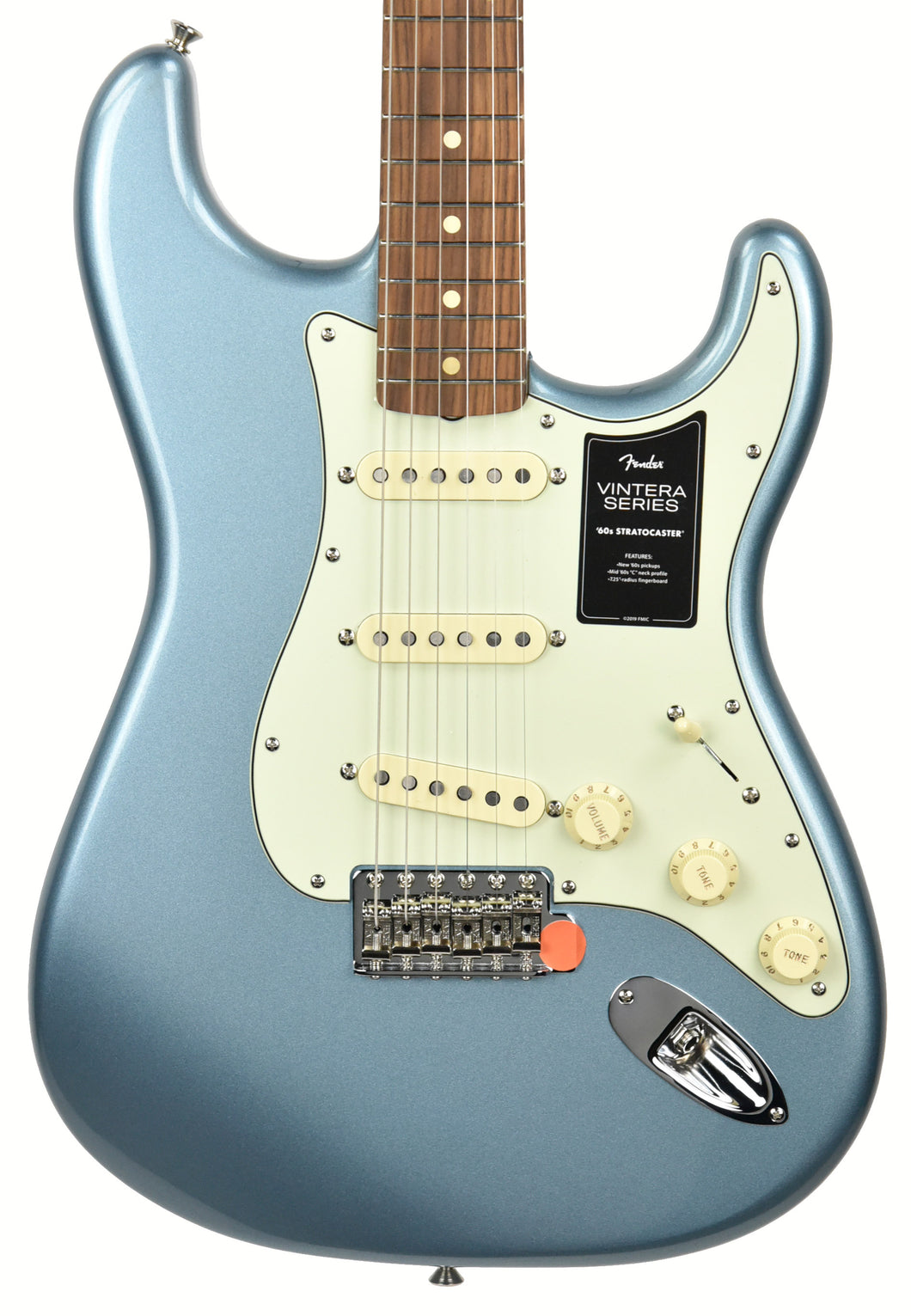 Fender Vintera 60s Stratocaster Electric Guitar in Ice Blue Metallic MX20151069