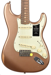 Fender Vintera Road Worn 60s Stratocaster in Firemist Gold MX21035873 - The Music Gallery