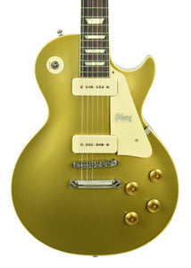 Gibson Custom 1956 Les Paul Gold Top Reissue VOS in Double Gold 69216 - The Music Gallery