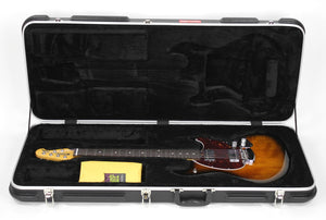Ernie Ball Music Man StingRay Electric Guitar in Vintage Sunburst - The Music Gallery - Case Open