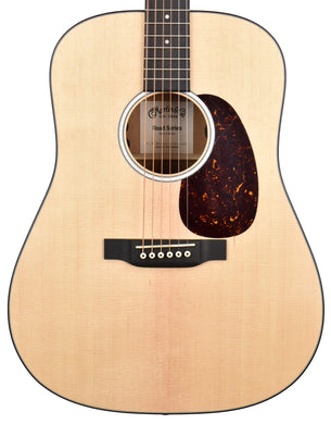 Martin D-10E Acoustic-Electric Guitar in Satin Natural 2470547
