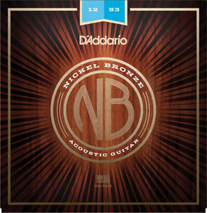 D'Addario NB1253 .012-.053 Nickel Bronze Light Acoustic Guitar Strings | The  Music Gallery