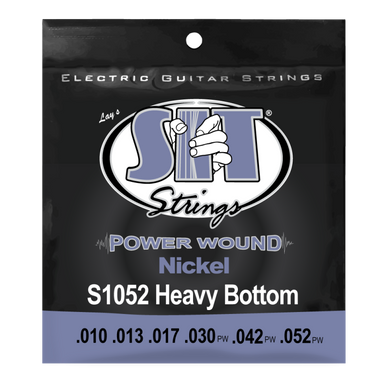 SIT Heavy Bottom Power Wound .010-.052 Nickel Electric Guitar Strings