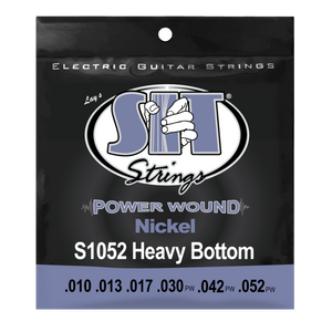 SIT Heavy Bottom Power Wound .010-.052 Nickel Electric Guitar Strings - The Music Gallery