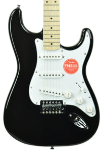 Squier Affinity Stratocaster Electric Guitar in Black CSSH20017557 - The Music Gallery