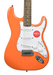 Squier Affinity Series Stratocaster in Competition Orange ICSJ20028585 - The Music Gallery