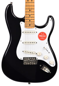 Squier Classic Vibe 50s Stratocaster in Black ISSK20001317 - The Music Gallery