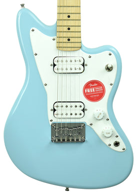 Squier Mini Jazzmaster HH Electric Guitar in Daphne Blue ICS20106509
