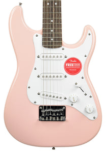 Squier Mini Stratocaster Electric Guitar in Shell Pink CSI20009649 - The Music Gallery