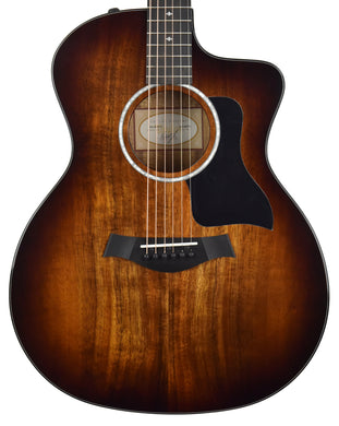 Taylor 224ce-K DLX Hawaiian Koa Acoustic-Electric 2211260372 - The Music Gallery