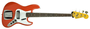 Used 2004 Fender CIJ 62 Jazz Bass in Fiesta Red R059197 - The Music Gallery