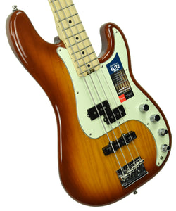 Used Fender American Elite P Bass in Tobacco Burst US19010072