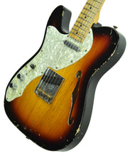 Used 2011 Fender Custom Shop Thinline Telecaster Relic Lefty Strung Righty R6301 - The Music Gallery