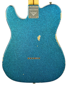 Used Fender Custom Shop Limited 55 Esquire Relic in Blue Sparkle CZ525122