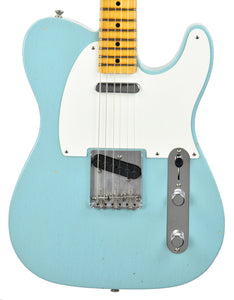 Used Fender Custom Shop 1955 Chicago Special Telecaster Journeyman Relic in Aged Daphne Blue R98348