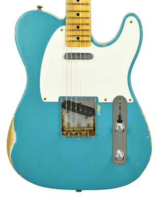 Used Fender Custom Shop Masterbuilt 55 Telecaster Relic Dale Wilson in Taos Turquoise R58748