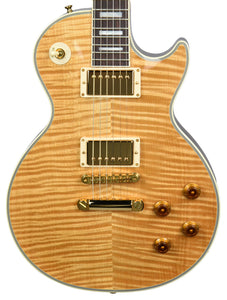 Used 2015 Gibson Custom Les Paul Custom Flame in Natural CS500603 - The Music Gallery