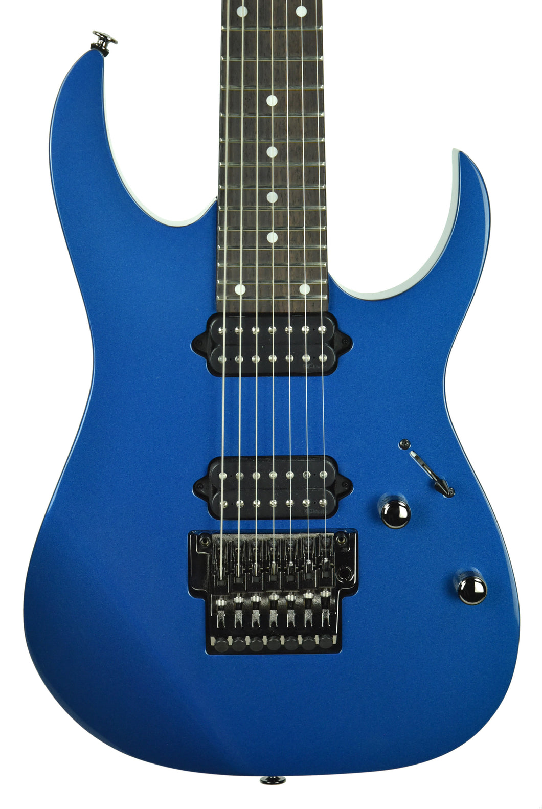 Used Ibanez Prestige RG752 7 String Electric Guitar in Cobalt Blue Metallic F1606491 - The Music Gallery