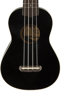 Fender Venice Ukulele in Black SN# CAXNH170648298 | The  Music Gallery Front Close