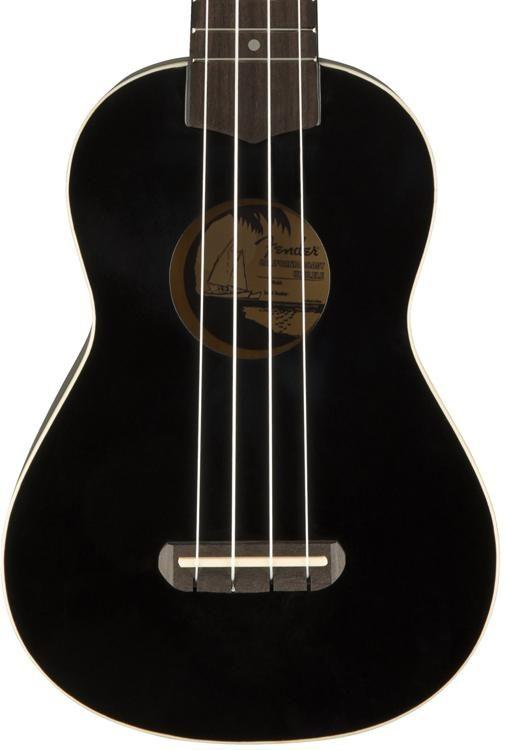 Fender Venice Ukulele in Black CYN1813970 - The Music Gallery