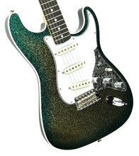 Fender Custom Shop Founder's Design Strat by Mark Kendrick in Golden Teal Sparkle | Front Left