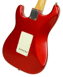 Fender Custom Shop 1963 Stratocaster Journeyman Relic in Candy Apple Red | Back Right | The Music Gallery