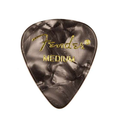 Fender® 351 Shape Premium Celluloid Picks - Medium Black Moto 12-pack