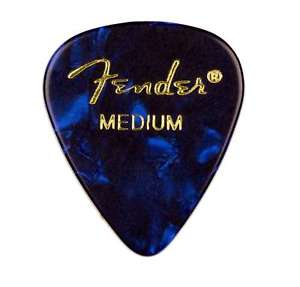 Fender® 351 Shape Premium Celluloid Picks - Medium Blue Moto 12-pack